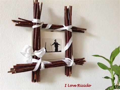 cornice fai da te legno cartolina con cornice di legno i riciclo