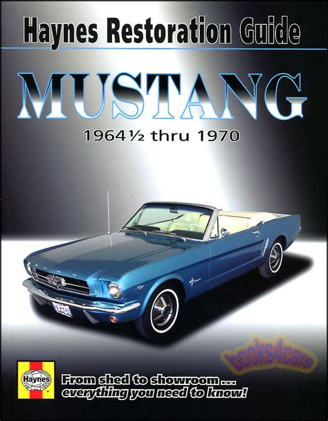 book repair manual 2003 ford mustang head up display mustang restoration manual shop guide book ford how restore haynes ebay
