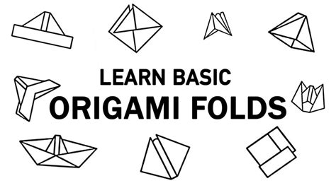 free coloring pages 3d origami basic folds learn