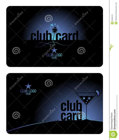 club card template club card design template stock image image 23050121