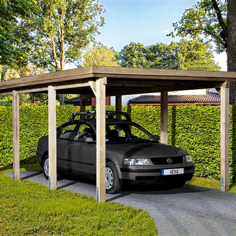Weka Carport by Weka Carport Optima 6 12 X 3 22 M Einfahrtsh 246 He 2 15 M