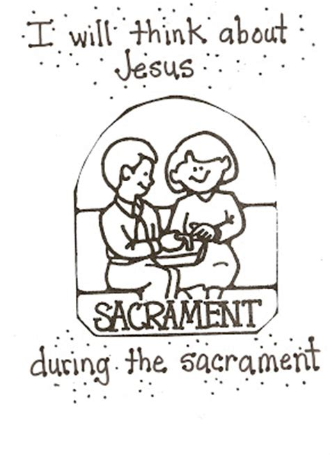 coloring pages lds sacrament lds nursery color pages 40 the sacrament helps me think