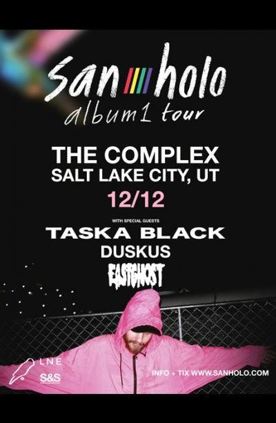 san holo tour 2018 san holo wednesday december 12th 2018 at the complex