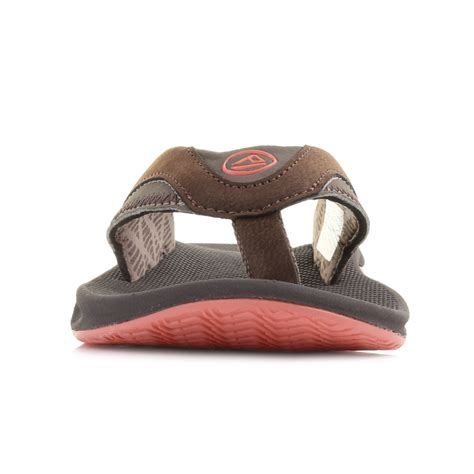 Sandal Pria Rf 02 womens reef fanning brown coral toe post sandals flip flops sz size ebay