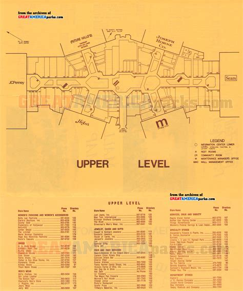 park mall map randall park mall 2 randall park mall directory level greatamericaparks