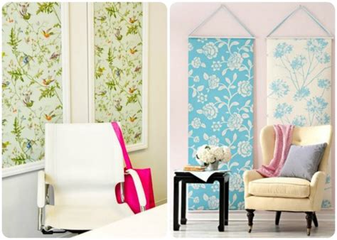 temporary fabric wallpaper accenting walls with temporary wallpaper and fabric