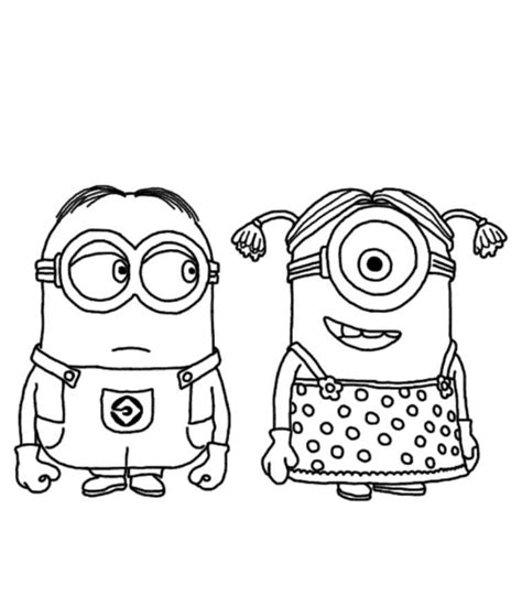 coloring pages for minions despicable me minion coloring pages coloring home