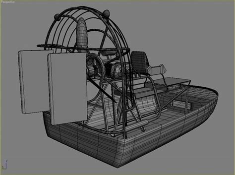 airboat drawing 3d sw airboat wooden pier model