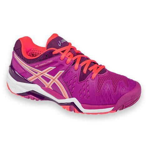 asics gel resolution 6 womens tennis shoe e550y 2106