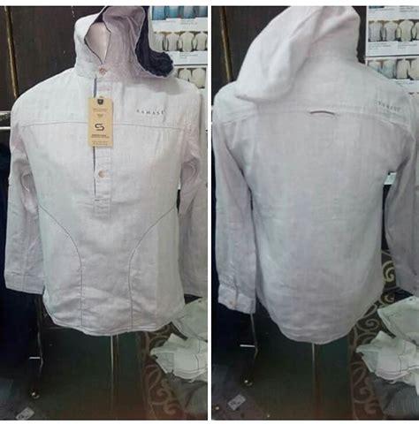 Setelan Keren Hoodie Putih baju koko samase 1113 hoodie putih dlm ungu pjg samase