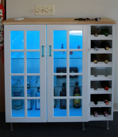 Glass Door Bar Cabinet How To Combine Ikea Items To Build Your Own Wine Rack