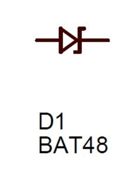 signal diode schematic symbol bat48 diode