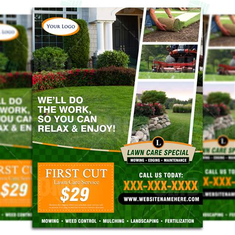 landscaping templates free landscaping flyers templates free lawn