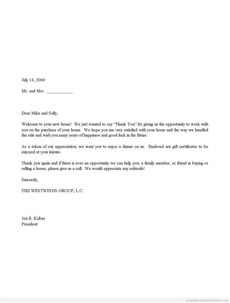 appreciation letter for giving gift sle printable sales thank you and gift certificate
