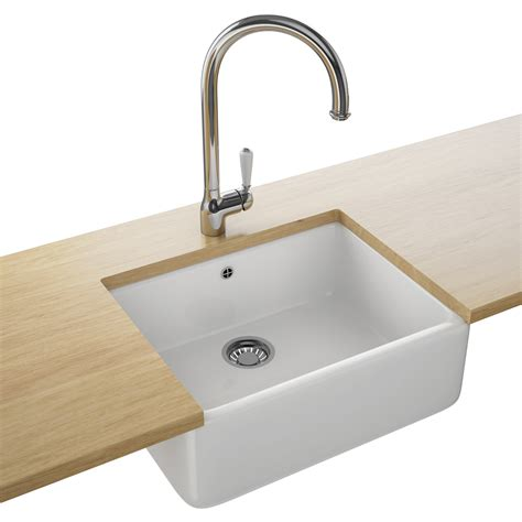 Designer Kitchen Sink Franke Belfast Designer Pack Vbk 710 Ceramic White Kitchen Sink And Tap 130 0049 875
