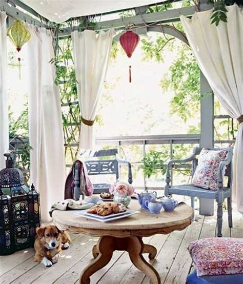 Veranda Ideas Decorating by Outdoor Curtains For Porch And Patio Designs 22 Summer