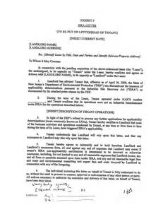 Certification Letter Of Tenant 1152810 V1418 Subject To The Terms And Conditions Of