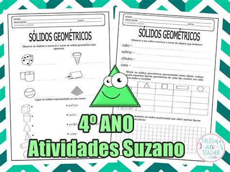 figuras geometricas quarto ano geometria 4 186 ano atividades pedagogica suzano