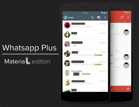 themes whatsapp xda theme material design for whatsapp plus r android
