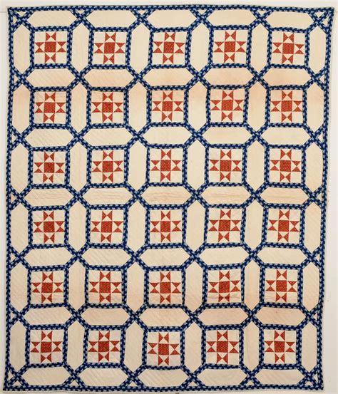 Garden Maze Quilt Block Pattern by Garden Maze Quilt With Evening For Sale At 1stdibs