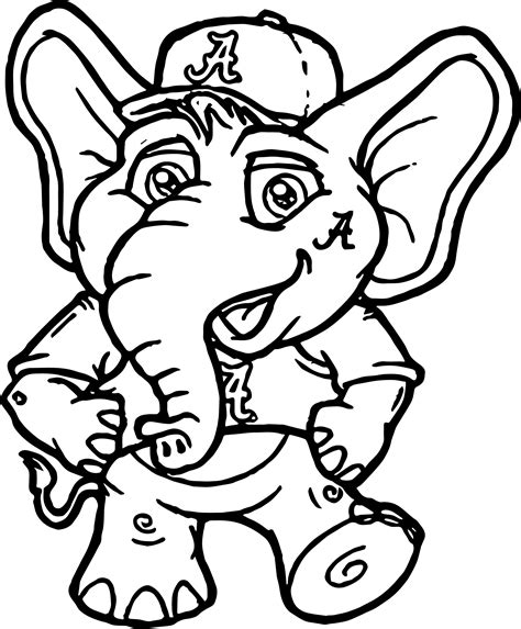 Alabama Crimson Tide Coloring Pages Coloring Pages Alabama Football Coloring Pages
