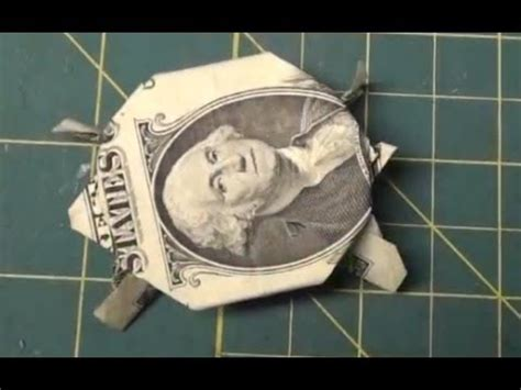 Dollar Bill Origami Turtle - fold money sailboat origami 1 one dollar bill tutori