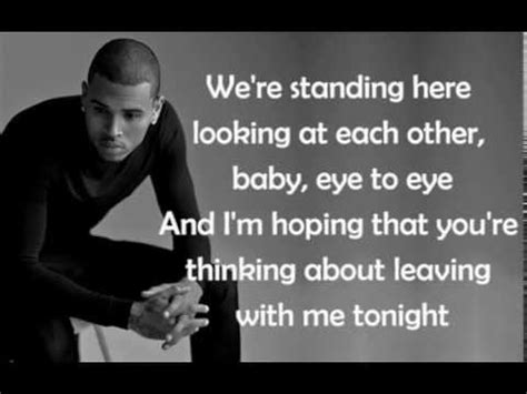 lyrica and chris brown chris brown lyrics