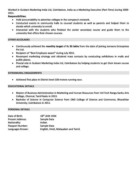sales and marketing resume resumes browse best template format