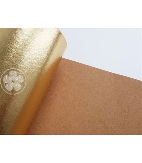 gold patterned kraft paper washable kraft paper fabric for sewing washable paper fabric