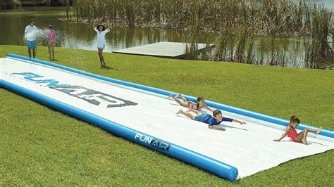 backyard slip n slide you could slide a truck down this monstrous 15 metre long