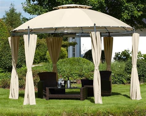holz pavillon mit seitenteilen pavillon 187 rundpavillon 171 216 350 cm inkl 6 seitenteilen