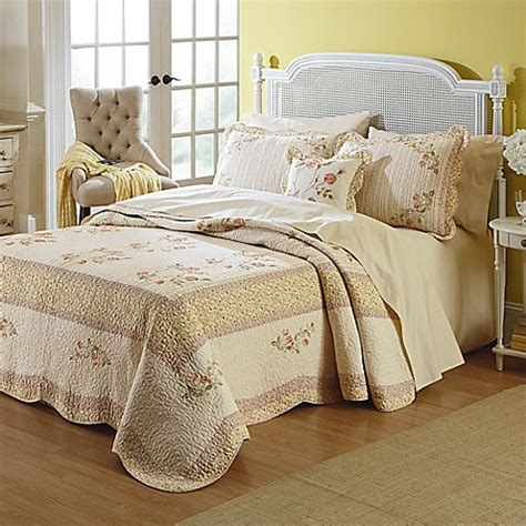 mary jane bedding buy mary jane s home morning rose king bedspread in yellow