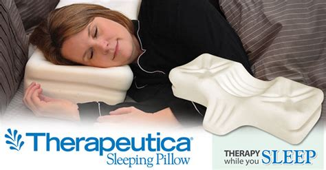 Therapeutica Sleeping Pillow by Therapeutica Ergonimic Sleeping Pillow