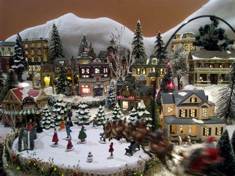 images of christmas village displays home design image ideas xmas village ideas