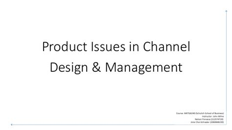 design management issues product issues in distribution channel design management