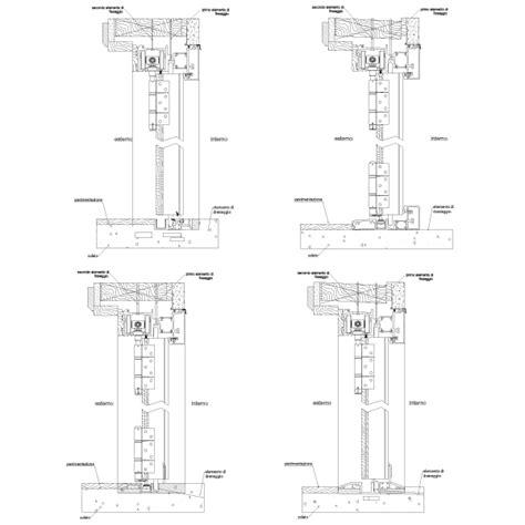 porte ingresso dwg porte alluminio legno dettagli costruttivi dwg