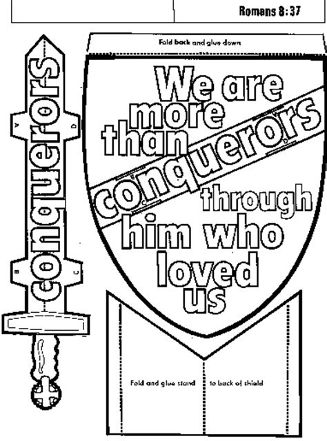 breastplate of righteousness coloring page coloring pages