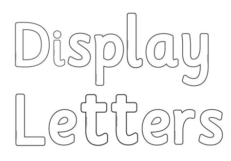 printable letters for display general and display resources archives k 3 teacher resources