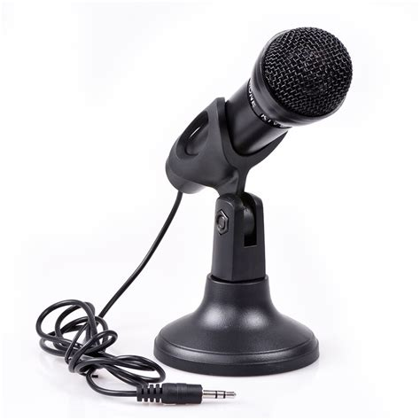 New 35mm Microphone Mic Pc Laptop Chat Record Tripod Stainless Metal uzou recording studio stand microphone chatting k song karaoke chat conference microphone