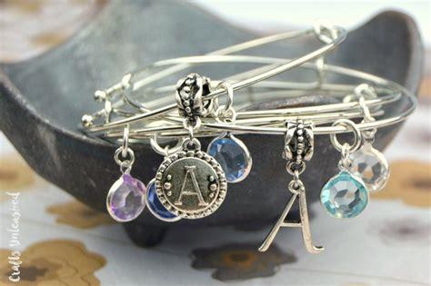diy charm bracelet bangles tutorial crafts unleashed