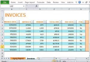 accounts receivable invoice template track accounts receivable with invoice aging report
