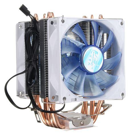 Cpu Cooler Lga Fan Lga775 Pc Cooler 92mm 3 pin blue led copper cpu cooler cooling fan heatsink for intel lga775 1156 1155 amd am2 2