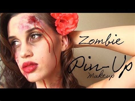 tutorial makeup zombie girl zombie pin up girl halloween makeup youtube