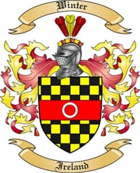 Winter Family Crest from Ireland by The Tree Maker
