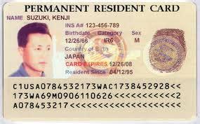 permanent resident card template green card il permesso nominale di residenza per gli usa