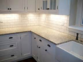 White Tile Backsplash Kitchen by Backsplash Ideas For White Kitchen Cabinets Home