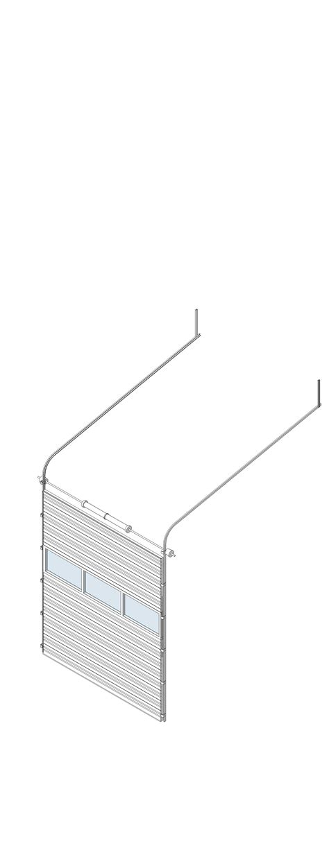 overhead sectional door bim objects families