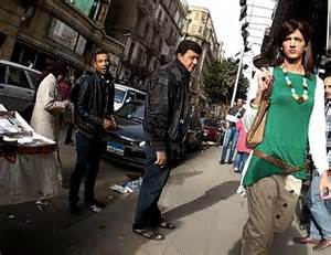 egyptian man disguised as woman is harassed