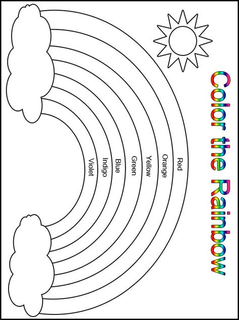 rainbow templates to colour customize your free printable color the rainbow