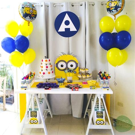 Minion Table Decorations by Kara S Ideas Minions Themed Birthday Planning